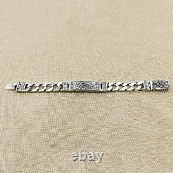Real 925 Sterling Silver Bracelet Link Vajra Lection Chain 7.09 9.45
