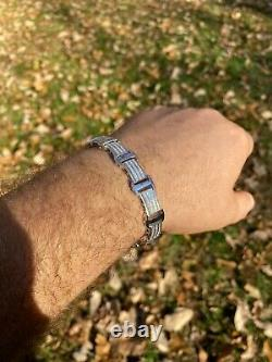 Real Solid 925 Sterling Silver Mens Iced Presidential Bracelet Diamond Hip Hop