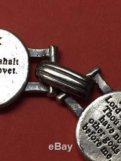 Retired & Hard to Find James Avery Sterling Silver Ten Commandments Bracelet