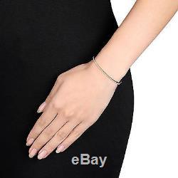 Sterling Silver 1/4 Ct Diamond TW Bangle Bracelet GH I3