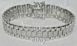Sterling Silver (925) Children's / Baby Stone Set Rolex Watch Strap Bracelet