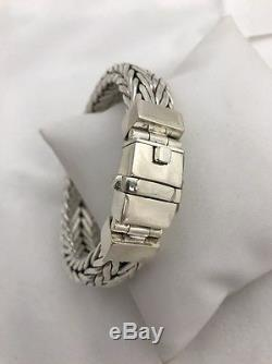 Sterling Silver. 925 HEAVY THICK 1/2 WIDE 10MM THICK WHEAT 9 Bracelet