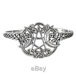 Sterling Silver Heart Pentacle Pentagram Bracelet Dryad Design Wiccan Pagan SS
