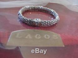 Steven Lagos Caviar Beaded X Sterling Silver Bracelet 9mm NWOT