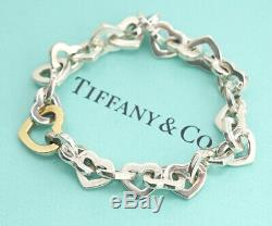 TIFFANY&Co Heart Link Bracelet 18K Gold & Silver 925 Bangle