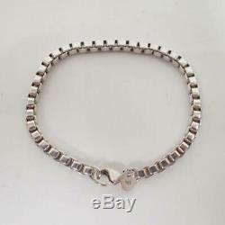 TIFFANY&Co. Venetian Link Bracelet Sterling Silver 925 H