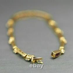 Tennis Bracelet 6.25Ct Princess Cut Ruby Sapphire & Diamond 14k Yellow Gold Fin