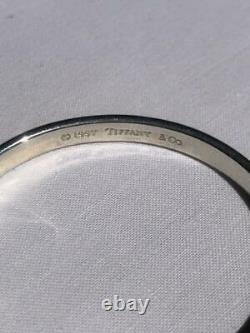 Tiffany & Co. 1837 Sterling Silver 925 narrow Bangle Bracelet Used From Japan 3