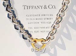 014689212e7 Tiffany & Co 18ct 18k Gold & Sterling Silver Heart Link Bracelet