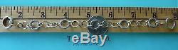Tiffany & Co. 925 Sterling Silver & 750 18K Gold Interlocking Circles Bracelet