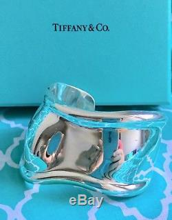 Tiffany & Co. Elsa Peretti 1978 Vintage BONE Cuff Bracelet Sterling Silver 925