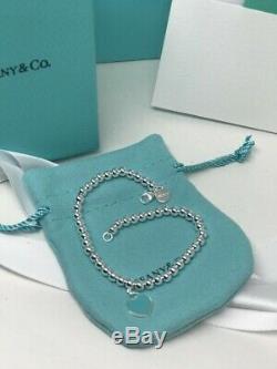 Tiffany & Co. Enamel 925 Solid Sterling Silver 7 Bead Ball Bracelet