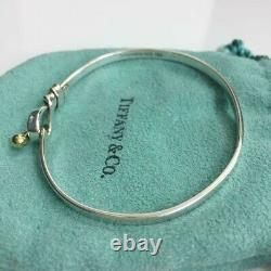 Tiffany & Co. Hook & Eye Love Knot Bangle 18K Gold & Silver 925 withPorch DHL