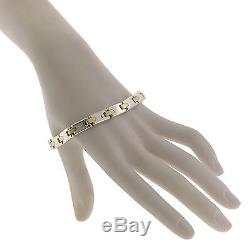 Tiffany & Co. Jewelry Sterling Silver 18K Yellow Gold 7.25 Inch Link Bracelet