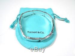 Tiffany & Co. Men's Sterling Silver METROPLIS Link Bracelet Tiffany Pouch