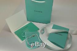 Tiffany Co. Mini PINK Enamle Bead Bracelet Size 19cm 925 Solid Sterling Silver