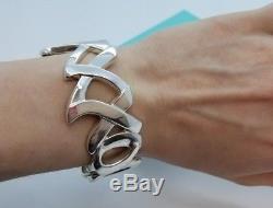 Tiffany & Co Sterling Silver 925 Paloma Picasso Love & Kisses Cuff Bracelet XOXO