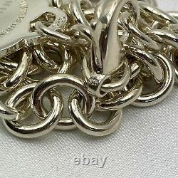 Tiffany & Co. Sterling Silver 925 Return to Heart Charm Tag Bracelet NO BOX Used
