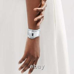 Tiffany & Co Sterling Silver Elsa Peretti Small Bone Cuff Bracelet 43mm (Right)