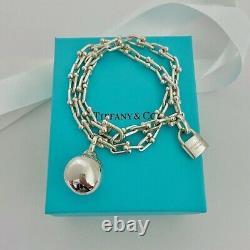 Tiffany & Co Sterling Silver Hardwear Link Wrap Bracelet 6.5 Size M Withpackaging