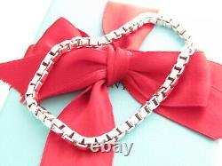 Tiffany & Co Sterling Silver Venetian 7.5 Inch Bracelet Box