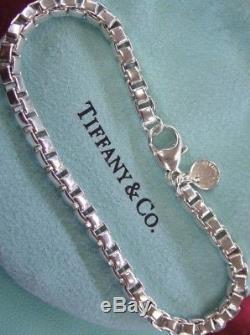 Tiffany & Co. Sterling Silver Venetian Box Link Bracelet