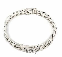 Tiffany & Co T&Co. 925 Sterling Silver HEAVY Men's Curb Link Bracelet 8.5