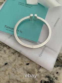 Tiffany & Co. Tiffany T Square Sterling Silver Bracelet Size 7 1/2 8
