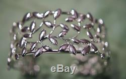 Tiffany Paloma Picasso Sterling Silver Olive Leaf Cuff Bracelet New Beautiful