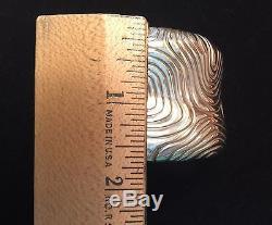 Tiffany co sterling silver Cuff Bracelet Rare Tree Ring Design