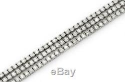 Triple Row Attractive Tennis Bracelet 7Ct Round Cut Diamond 14k White Gold Over
