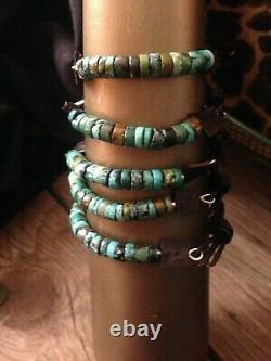 Turquoise & Sterling Silver Cuff Bracelet Dark Brown Sundance Leather