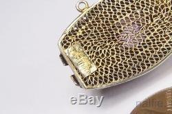 VINTAGE CHINESE STERLING SILVER GILT FILIGREE AMETHYST BRACELET c1960's BOXED