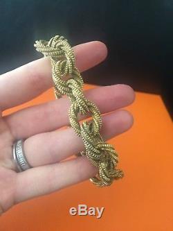 Very Rare Hermes Vintage Link Sterling Silver Bracelet