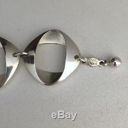 Vintage 60s'GEORG JENSEN' Sterling SILVER #190 Bracelet 1968 By Henning KOPPEL