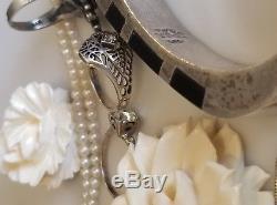 Vintage Art Deco 14k 925 sterling Silver bracelet rings necklace Jewelry Lot