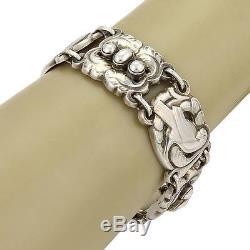 Vintage Georg Jensen Dove Sterling Silver 6 Station Bracelet 14