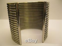 Vintage Signed Ralph Lauren Sterling Silver Cuff Bracelet 180.9 grams