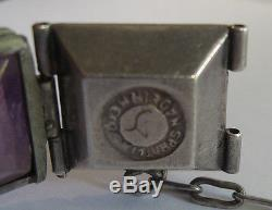 William Spratling Mexico Vintage Sterling Silver & Amethyst Bracelet