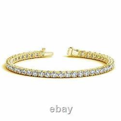 Women's 7.50Ct Round Cut Diamond Tennis Bracelet 14k Yellow Gold Over 7.50 Inch