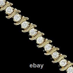 Women's Tennis Round Diamond Special Bracelet In 14k Yellow Gold Over 5 Ct 7.50