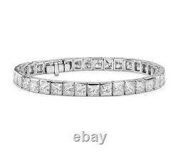 Womens Tennis Bracelet 7Ct Princess Cut VVS1 Diamond 14k White Gold Over 7.25