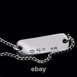 Yves Saint Laurent Paris Sterling Silver Id Chain Bracelet. 925 YSL France RARE
